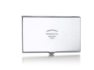 Business card holder tiffany images card design and card template tiffany co business card case sybarites new york based jeweler tiffany co who are renowned for reheart Images