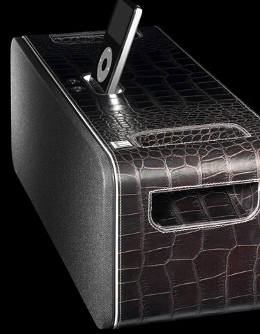 Dunhill Alligator iPod Speakers at Sybarites